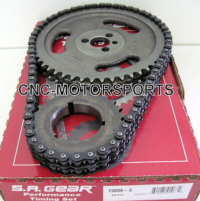 Sa Gear 73036-3 Double Roller Timing Chain Set Bbc Bb Chevy 396 427 454