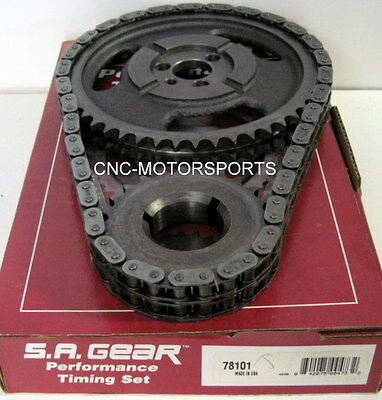 Chevy 348 409 SA Gear .250 Double Roller Timing Chain 3 Keyway
