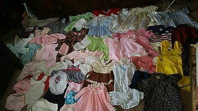 LARGE LOT-ANTIQUE Vintage Baby Clothes- Dresses & More!  SIZES VARY #004