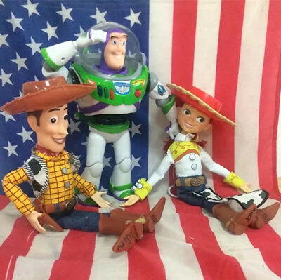 Disney Toy Story lot of 3 TALKING Woody Jessie Buzz Lightyear Action figure TOYS