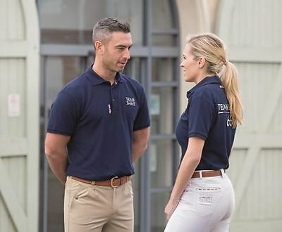 Shires Team Navy Polo Shirt- Gents Short Sleeves Top Size XS-XXL 9855