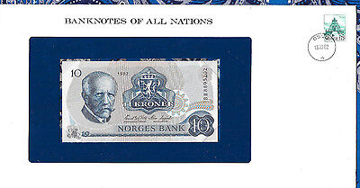 Banknotes of All Nations Norway 10 Kroner 1982 P 36c UNC Prefix BB