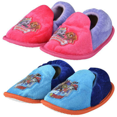 PAW PATROL Nickelodeon Infant Baby Boys & Girls Toddlers Fleece Slippers New