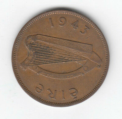 Eire/Ireland 1943 1d one penny