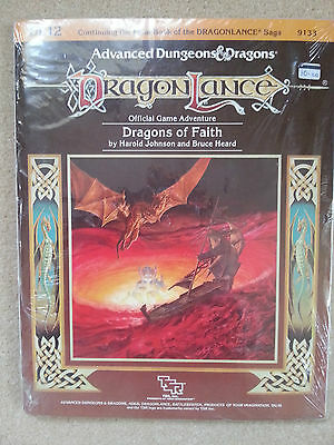 "TSR DRAGONLANCE ~ DRAGONS Of FAITH DL12 - AD&D ""MINT"" FACTORY SEALED  ~9133 1986"
