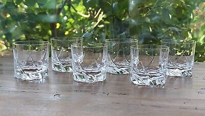 Cristal Daum France  6 verres - gobelets à Whisky   6 tumblers  Whyskey glasses