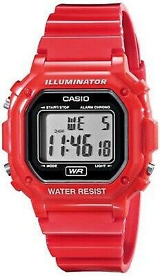 Casio Men's Digital Gray Dial Red Resin Watch F108WHC-4A