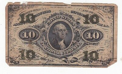 Us Fractional Currency-Ten Cents March 3 1863