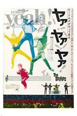vintage JAPANESE BEATLES concert poster COLORFUL BRIGHT musicians 24X36 HOT