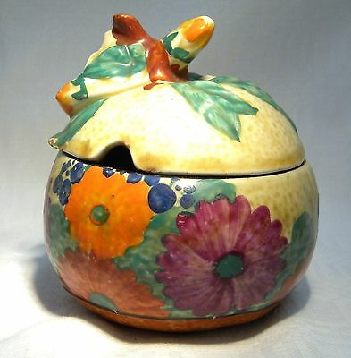 Art Deco Clarice Cliff Bizzare Gayday Lidded Preseve / Honey