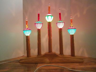 Vintage Christmas Bubble Lights With Candleabra 5 Bulbs