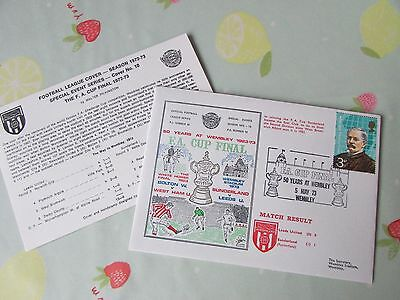 LEEDS United v SUNDERLAND 1973 FA Cup Final FOOTBALL First Day Cover
