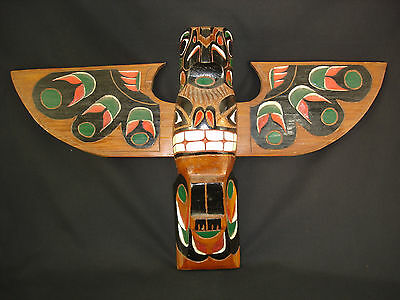 A Northwest Coast Carved Totem Piece, Native American Indian, c.1950