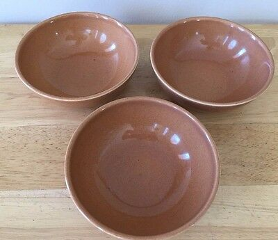 Russel Wright Iroquois Casual China Ripe Apricot Cereal Bowls - Lot of 3