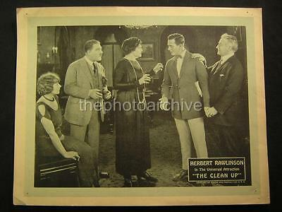 20s Herbert Rawlinson The Clean Up 1923 VINTAGE LOBBY CARD OS85