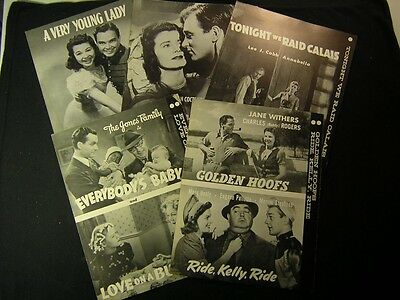 5 1940s Movie News Pressbook Release Book Lot Annabella Jane Withers RA4
