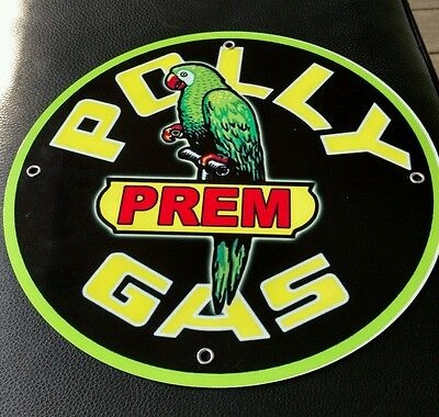 Polly Gas Oil gasoline sign