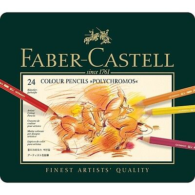 NEW, SEALED Faber-Castell Polychromos 24 Set Colored Pencils