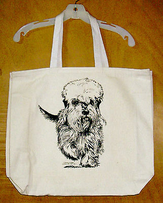 DANDIE DINMONT TERRIER Coming&Going 100% Cotton Canvas Tote Bag