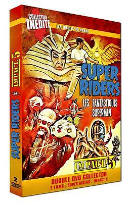 "2 DVD NF ""SUPER RIDERS Les fantastiques supermen / IMPACT 5 Karate motos"" SENTAI"