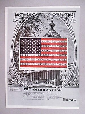 "Maurer ""The American Flag"" Serigraph PRINT AD - 1975"