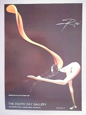 Ross Rosi Art Gallery Exhibit PRINT AD - 1975