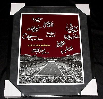 Framed Redskins Signed Legends Sonny Jurgensen, John Riggins 16x20 Photo JSA