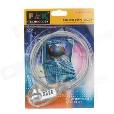F & K Technology Notebook ComputerLock PC Laptop Security Lock Anti-Theft Cable