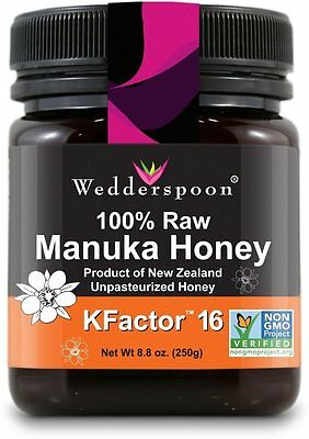 Raw Maunka Honey Kfactor 16, Wedderspoon, 8.8 oz 1 pack