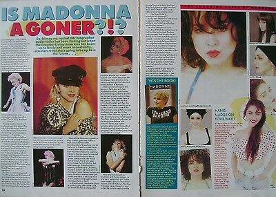MADONNA - magazine clipping / cutting from 1988
