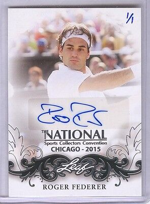 Roger Federer NSCC-RF2 2015 Leaf National Convention Autograph Auto Silver 1/1