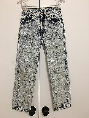 Vintage Levi's Jeans Acid Wash 26x26 Size 12 Made In USA