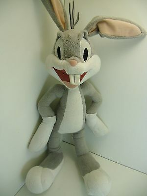 "Large Bugs Bunny 29"" Overall Tall Six Flags Looney Tunes Plush Stuffed Animal"