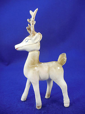 Vintage Bambi Look Deer Soft Plastic Lots Of Paint Missing 6 1/2""