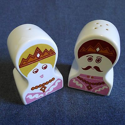 Carlton Ware Arabian King And Queen Salt And Pepper Shakers 60's 70's Rare