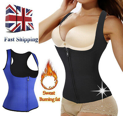 New Body Fat Burner Neoprene Waist Trainer Vest Hot Sweat Shaper Women Corset