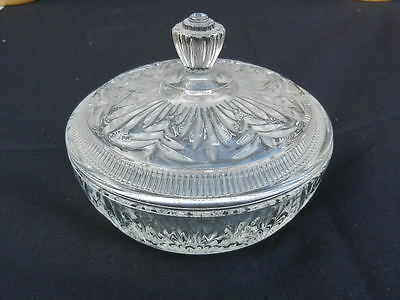 AVON VINTAGE GLASS POWDER BOWL Trinket Box