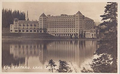 Chateau Lake Louise BANFF Alberta Canada 1927 Real Photo Postcard Harmon 630