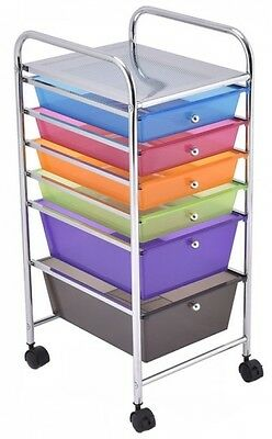 Craft Storage Cart 6 Drawer Rolling Office Supplies Scrapbook School  Organizer