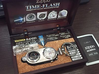 "Rare! ZIPPO ""Time-Flash"" Multi Survival Tool (Watch/LED Light/Thermometer etc)"