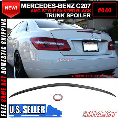 10-17 Benz W207 C207 2Dr Coupe E-Class Painted Black #040 AMG Trunk Spoiler