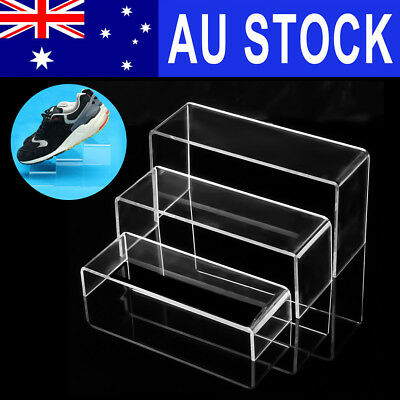 AU 3x Transparent Acrylic Shoes Display Stand Jewellery Rack Organiser Holder