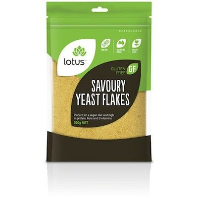 Lotus Savoury Nutritional Yeast Flakes BULK BUY - SHIPS TODAY - #H101