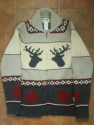 HBC Vancouver 2010 Olympics Genuine Cowichan 99% WOOL sweater Mens large