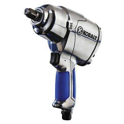 Kobalt Air Impact Wrench 0.5 in 350 ft lbs Ergonomic Rubber Grip Compact Design
