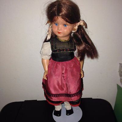Vintage Germany Celluoid Doll with Bavarian Dress