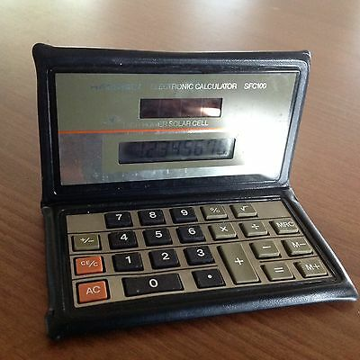 VINTAGE HANIMEX CALCULATOR GC WORKING WELL SFC100 Solar Cell Powered
