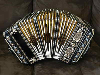 Large Concertina Beautiful Instrument in the Key of B Flat