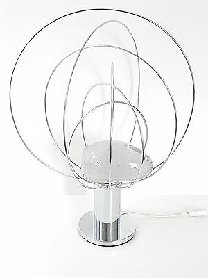 Angelo Brotto : Lampe Edition Fase 1970 Vintage Space Age Annees 70 Chrome 70'S