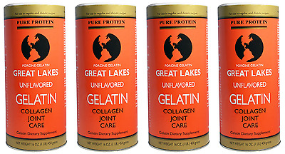 Great Lakes Gelatin Co. PORCINE Gelatin Collagen Joint Care Unflavored 1/2/3/4